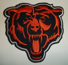 """Chicago Bears Head Embroidered PATCH~3 1/4"""" x 3 1/4""""~Iron Sew On~NFL~Ships FREE"""