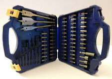 NEW NIP IRWIN 65 PIECE DRILL & DRIVE SET 3101015 SPEEDBOR DRILL SCREW SPADE BITS