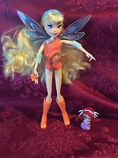 Mattel Winx Club Pixie Magic Stella Doll Rooted Eyelashes With Amore!!