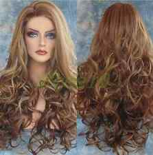 Women Big Spiral Wave Wig Beauty Long Full Hair Mix Color Cosplay NO Lace Front