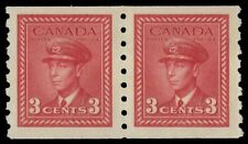"CANADA 265 - King George VI ""War Effort"" Coil Pair (pa44630)"