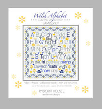 WELSH ALPHABET COUNTED CROSS STITCH KIT SAMPLER KIT by RIVERDRIFT HOUSE