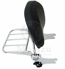 Mutazu Detachable Backrest Sissy Bar & Rack for 94-08 Harley HD Touring FLT FLH