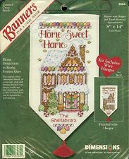 Dimensions Counted Cross Stitch Banner Kit Home Sweetness Sweet Home 8584 NEW