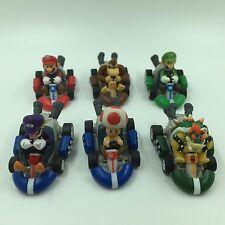 """Set of 6 pcs. Super Mario Bros Mini Kart Pullback Figure 1"""" - 2 """""""