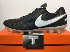 Nike Tiempo Legend VI FG ACC Real Leather ~ 819177 010 ~ U.K. Size 10 ~ Euro 45