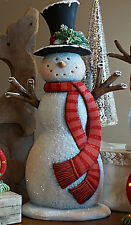 """Ceramic Bisque Ready to Paint Tall Snowman 17.5"""" tall"""