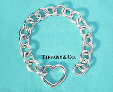STUNNING Tiffany & Co Silver Heart Clasp 7.5 Inch Bracelet Non Fixed Version