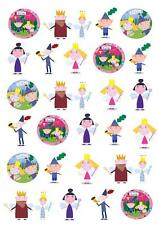 30 Ben And Holly little Kingdom STAND UP cake Fairy Cake Toppers Decorations
