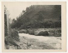 US Army Photo, Rustic Bridge across Ta Ho River, Burma Myanmar 1940s Photograph