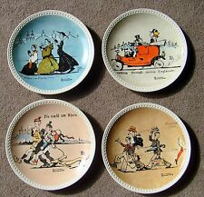 "Vintage Norman ""Rockwell on Tour"" Plates Complete Newell Pottery"