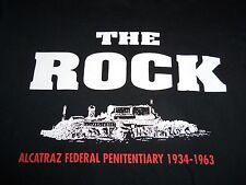 The Rock Alcatraz Federal Penitentiary California Prison Black Graphic T Shirt M