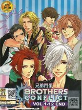 Japanese Anime DVD Brother Conflict Vol.1-12 End Complete Animation New Box Set