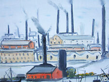 John Goodlad Art Painting UK Framed Art Canvas northern  Lowry Large industrial