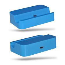 BLUE Desktop Stazione Di Ricarica Dock Stand Micro USB per Samsung Galaxy Ace 3