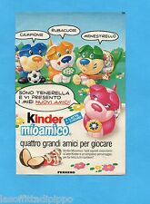 TOP989-PUBBLICITA'/ADVERTISING-1989- FERRERO - KINDER MIO AMICO