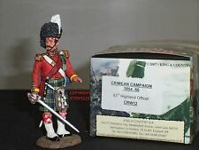 KING AND COUNTRY CRW12 93RD HIGHLANDER OFFICER METAL TOY SOLDIER FIGURE