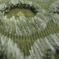 2.875 yds Novelty Embroidered Textured Stripe Fringe Accented Upholstery Fabric