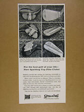 1957 Spalding Top-Flite Woods & Irons golf clubs 6x photo vintage print Ad