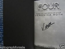 Veronica Roth signed auto Divergent FOUR hardcover book