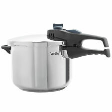 VonShef Pressure Cooker Stainless Steel 6 Litre for All Cooking Surfaces