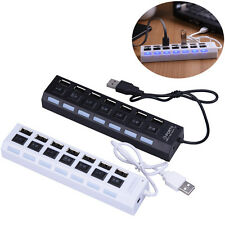 1Pcs 7-Port USB 2.0 Hub + High Speed Adapter ON/OFF Sharing Switch for Laptop PC