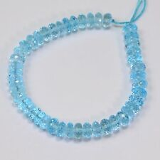 Sky Blue Topaz Faceted Rondelle Beads 6 inch strand