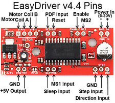 3 Units USA Warehouse EasyDriver V4.4 Shield Stepper Motor Driver A3967 Arduino+