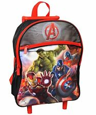 """Avengers """"Trial by Fire"""" Mini Rolling Backpack - black/red, one size…#358591"""