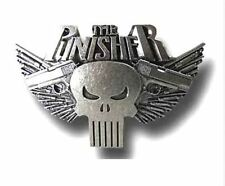 NEW PUNISHER BELT BUCKLE SILVER Skull Metal Cosplay Costume MARVEL COMICS