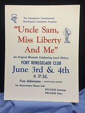 """Canajoharie(NY) Constitutional Bicentennial Committeeposter """"Uncle Sam,Miss Libe"""