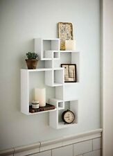 Shelving Solution Intersecting Decorative White Color Wall Shelf, Set Of 4, 2