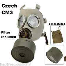 Czech Surplus Unissued CM-3 Gas Mask with Filter & OD Carry Bag 420 Steampunk