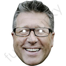 Dr Neil Fox - Celebrity DJ TV Presenter Card Mask - All Our Masks Are Pre-Cut!
