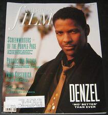 American Film August 1990-Denzel Washington