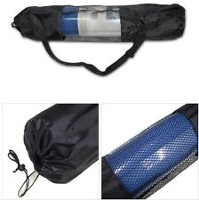 Yoga Mat Bag Exercise Fitness Carrier Nylon Mesh Washable Adjustable Strap AB