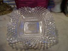 Vintage Clear Glass Relish/Candy Dish with Fluted Sawtooth Edge...Excellent