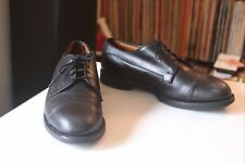 Allen Edmonds Bergland Black Leather Cap Derbys Men's 10.5 C Made in U.S.A.