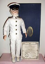 TITANIC Captain Edward J.Smith; Harland & Wolff; RARE Doll/figurine with COA NEW
