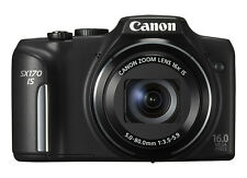 Canon PowerShot SX170 IS 16.0MP Digital Camera in travel kit - Black