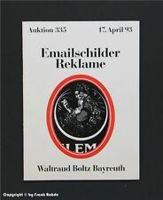 Catalogue vente aux enchères EMAIL panneaux + publicité avril 1993