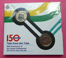 2013 ROYAL MINT LONDON UNDERGROUND 150TH ANNIVERSARY TWO POUND 2 COIN SET SEALED