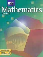 Holt Mathematics: Student Edition Course 3 2007, HOLT, RINEHART AND WINSTON, Acc