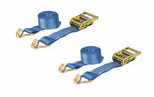 PAIR 2000kg 35mm x 6m Heavy Duty RATCHET STRAP Tie Down 2 Ton (2500kg webbing)