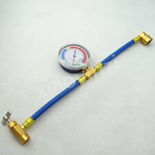 R-134a Recharge Measuring Hose Gauge System Refrigerant Charging Pipe