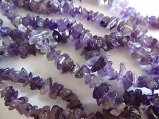 "36"" Strand 4-12mm Wide Natural Amethyst Chip Stone Beads #A623 DNG"