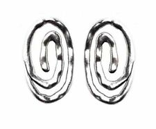 DIY Jewelry 5Pcs Tibetan Silver Oval loops Charms Findings Spacer Beads TA2700