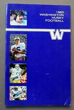 1983 UNIVERSITY WASHINGTON HUSKIES football Media Press Guide