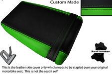 BLACK & LIGHT GREEN CUSTOM FITS KAWASAKI ZXR ZX R 400 88-90 REAR SEAT COVER