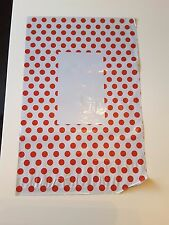 """100 Polka Dot Spotty Mailing Bags Strong Self Seal Strip 9*12"""" RED"""